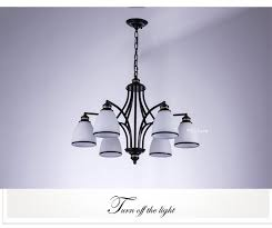 retro light glass chandelier for living room kitchen stair hallway lamp white lampshade decor home lighting