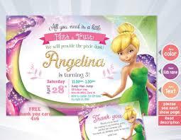 Tinkerbell Invitation Tinkerbell Invitation Fairy Invitation Tinkerbell Birthday Tinkerbell Party Disney Fairies Tinkerbell Fairy