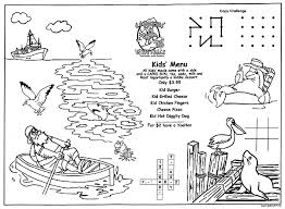 Childrens Menus Kids Coloring Menus For Restaurants