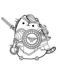 Wonder Woman Pusheen Fan Art By Lxoetting Pusheen Cat