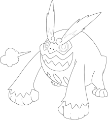 Small Picture Darmanitan Pokemon coloring page Free Printable Coloring Pages