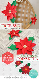 Browse 50 vector icons about christmas term. Mini Paper Christmas Poinsettia Free Svg Gina C Creates