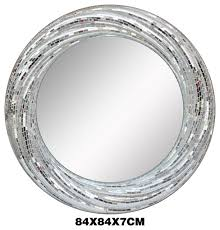 idea silver framed bathroom mirror