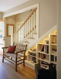 Decorations:Fabulous Under Stair Storage Design Idea With White Book Shelf  Ideas Fabulous Under Stair