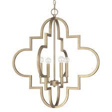capital lighting fixture company ellis brushed gold 26 inch wide four light pendant