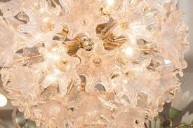 italian sputnik chandelier with murano glass flowers in good condition for in new york