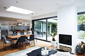 Home Interiors:Modern Glass Extension In The Kitchen Room Design Ideas  Glass Extension In Dining