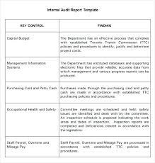 Simple Report Template Audit Report Sample Findings Qualified Simple Format Of Internal