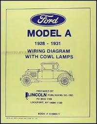 1928 1931 ford model a cowl lamps wiring diagram manual reprint