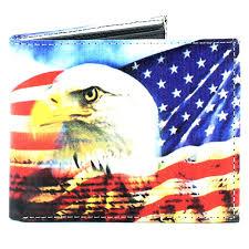 vegan billfold eagle on american flag sbvl 507