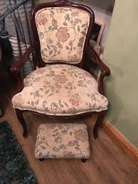 Ladies Bedroom Chair Classic Ladies Bedroom Chair And Footstool Excellent Condition