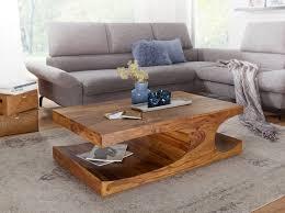 Couchtisch Massiv Holz Sheesham 118 Cm Breit Wohnzimmer Tisch Design