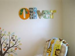 connected nursery name decorated mixed media craftcuts com painted unfinished connected wood