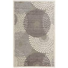 nourison graphic illusions grey 2 ft x 4 ft area rug