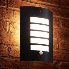 auraglow dusk till dawn daylight pir motion detection sensor outdoor wall light black