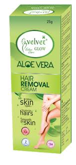 Velvet Glow Aloevera Hair Removal Cream, For Personal, Packaging Size: 25  Gm, Rs 40 /box | ID: 16140721012