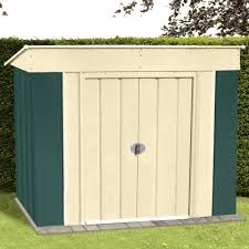 Low Pent Metal Shed Steel Storage Buildings Coated Ventilated