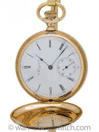 elgin 14k yellow gold size 16 s 50mm hunting case pocket watch
