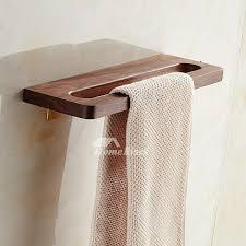 walnut wooden 15 inch bathroom towel