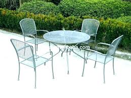 metal mesh patio chairs. Steel Mesh Patio Furniture Outdoor White Metal Cheap Dining Round Table And Chairs Din .