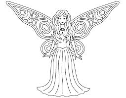 Fairy Coloring Pages Free Classic Style Disney Fairy Coloring