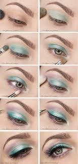 pale green eye makeup