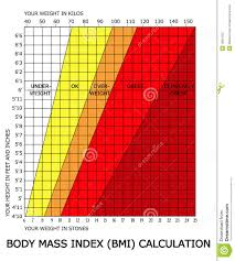 Body Index Chart Body Mass Index Bmi Calculator Stock Illustration