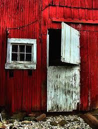 red barn door. Barns Photograph - Open Barn Door By Julie Dant Red