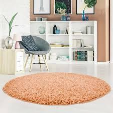 Hochflor Teppich Pastell Shaggy 300 Softsalmon Für Wohn Und