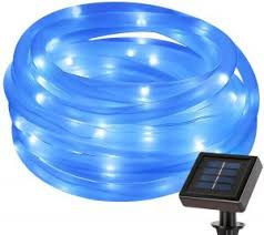 view bench rope lighting. Plain View 50 LEDs Blue Solar Power String Lights Waterproof Decorative Rope Light  For Outdoor Christmas Tree Garden Patio Party Wedding Lawn Holiday Festival For View Bench Lighting