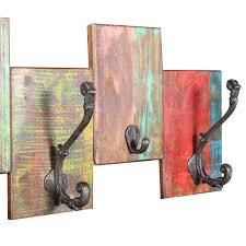 picture of coat rack with 7 hooks solid reclaimed wood
