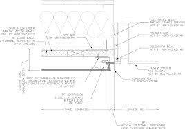 door jamb detail plan. Beautiful Detail Insulated Left Louver Jamb At ACM And Door Jamb Detail Plan N