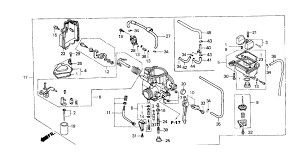 similiar honda 300ex engine diagram keywords 03 honda 300ex carb diagram honda wiring schematic wiring harness