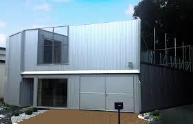maison individuelle en ossature bois finition bardage métallique