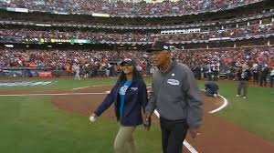 WS2014 Gm4: Felipe Alou helps deliver game ball - YouTube