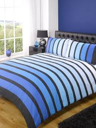 soho blue stripe duvet cover quilt bedding set blue double by rapport co uk kitchen home