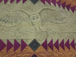 I went to AQS Grand Rapids Quilt Show | Nonnie's Quilting Dreams & close up of OWL Adamdwight.com
