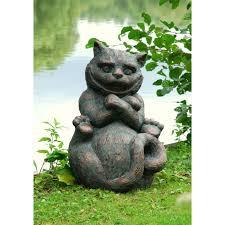 cheshire cat garden sculpture