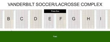 Vanderbilt Seating Chart Soccer Seating Chart Vanderbilt University Athletics