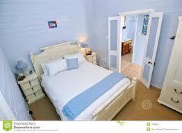 Bedroom Design Light Blue Walls Bedroom With Light Blue Walls Stock Image Image Of