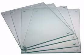 6 glass cutting board set by clever chef 4 non slip cutting boards