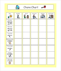 Household Chore List Template Household Schedule Template Modern Family Chore Chart