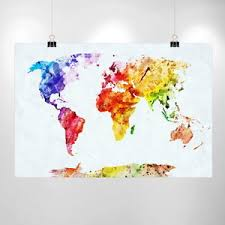 valentines gift large watercolor world map print home decor print poster ikea wholesale cheap price canvas giclee map art adventure saying on map wall art ikea with large watercolor world map print home decor print poster ikea