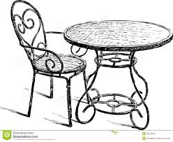 table and chairs drawing. royalty-free stock photo. download table and chair chairs drawing