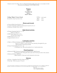 97 Resume For Scholarships Template Free Scholarship Application