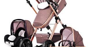 <b>Baby Stroller</b> 3 in 1 With Car Seat High Landscope Folding <b>Baby</b> ...