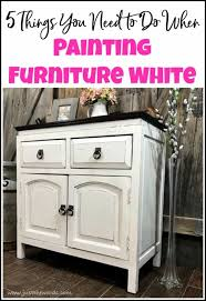 What color to paint furniture Blending Painting Furniture White How To Paint White Furniture Furniture Painting Techniques Painted Furniture Ideas Things You Need To Do When Painting Furniture White