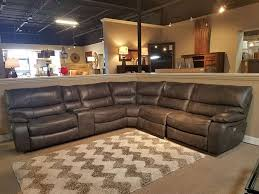 picture of luna leather power reclining sectional