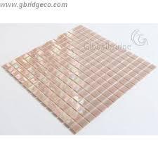 burnt orange glass mosaic backsplash iridescent glass tile