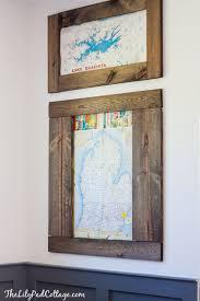 playroom diy vintage map wall art